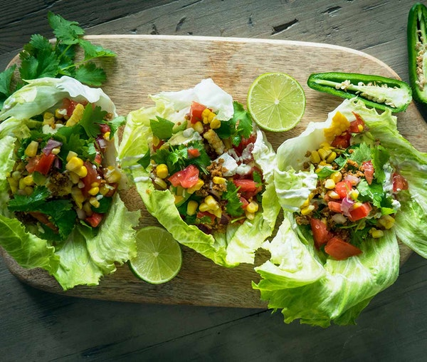 Barfoots recipe Nut seed and meat tacos created by Elisa Rossi