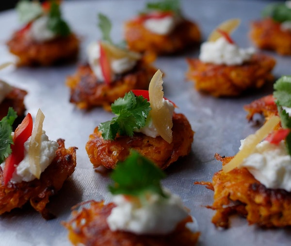 Sweet potato rosti by Milli Taylor in the Barfoots development kitchen