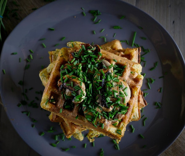 Barfoots sweet potato and polenta waffles recipe
